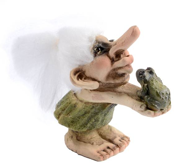 Bilde av Trolljente med frosk (Troll nr. 023)