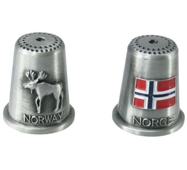 Bilde av Fingerbøl, elg og flagg, Norway og Norge