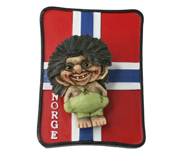Bilde av Magnet, troll på flagg, Norge