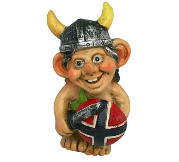 Bilde av Viking med flaggskjold og sverd