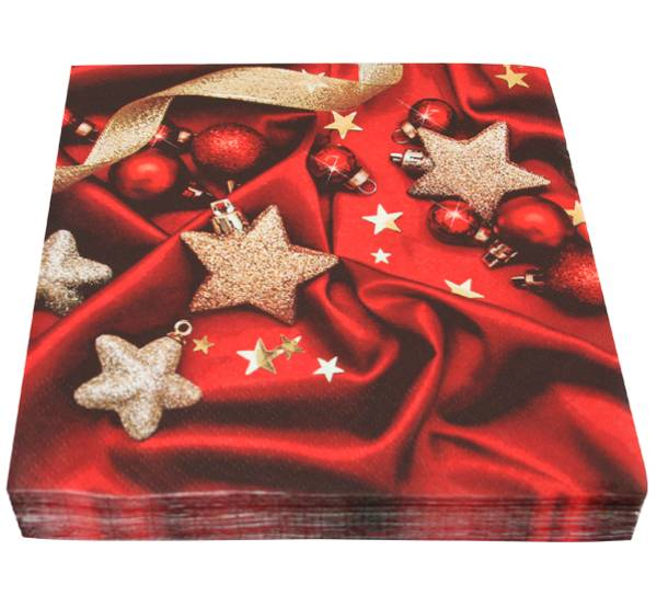 Bilde av Servietter, pynt julestjerner