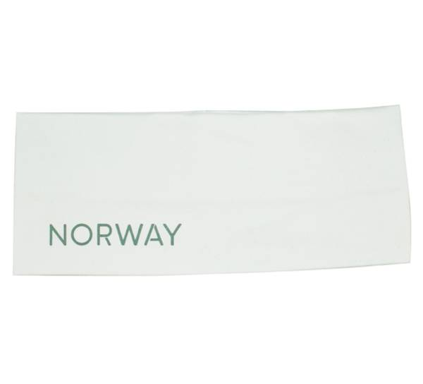 Bilde av Pannebånd med refleks Norway  hvit