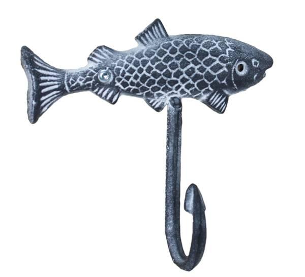 Bilde av Knagg med fisk, maritim finish.