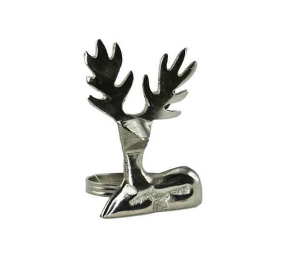 Bilde av Serviettring med reinsdyr, sølvfarget. F-design.