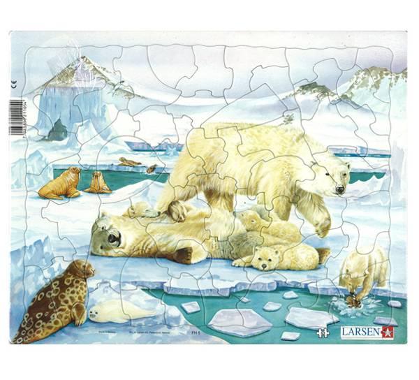 Bilde av Puslespill Isbjørn 53 brikker
