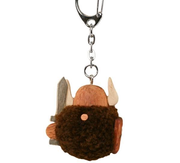 Bilde av Nøkkelring med brun pompom viking