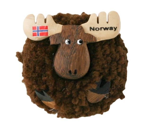 Bilde av Magnet, brun pompom elg