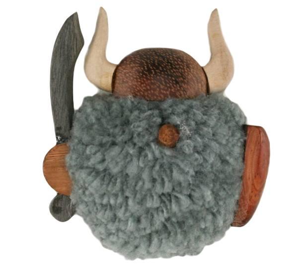 Bilde av Magnet, grå pompom viking