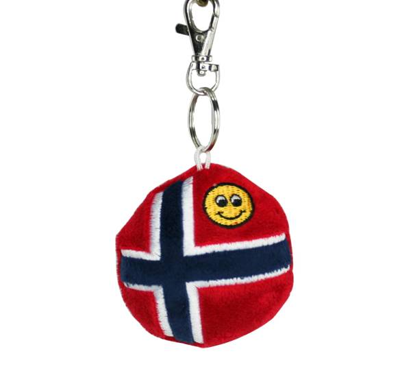 Bilde av Nøkkelring, norsk flagg og smiley