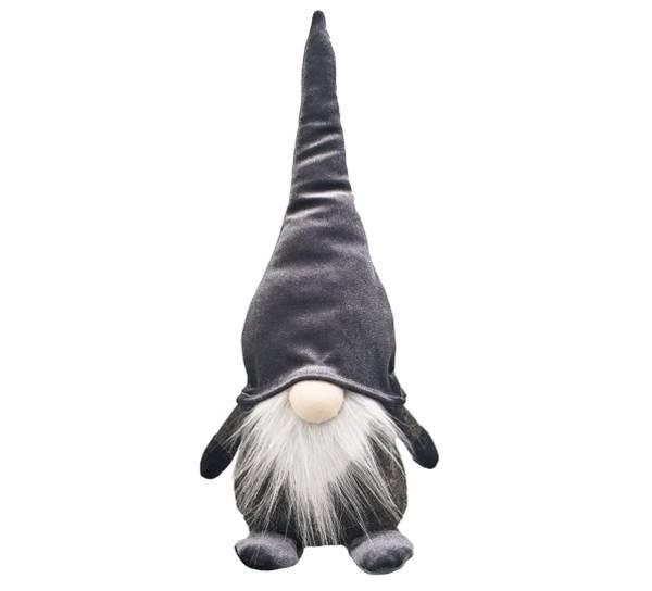 Bilde av Nisse med grå fløyelslue