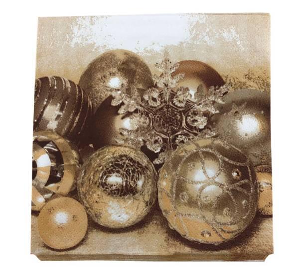 Bilde av Servietter, julekuler