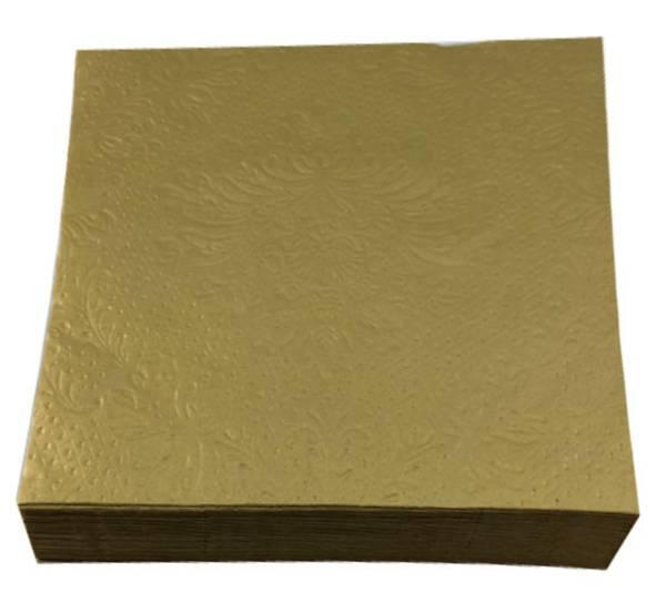 Bilde av Servietter, gull ensfarget