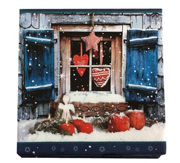 Bilde av Servietter, julehytte