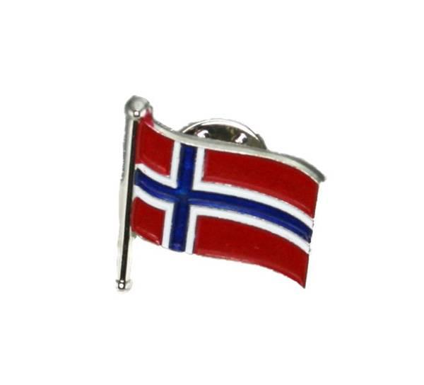 Bilde av Pin med norsk flagg på stang