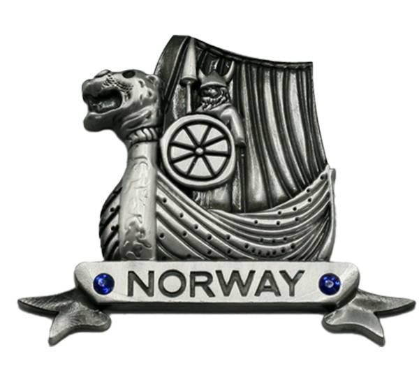 Bilde av Magnet, Vikingskip, sølv