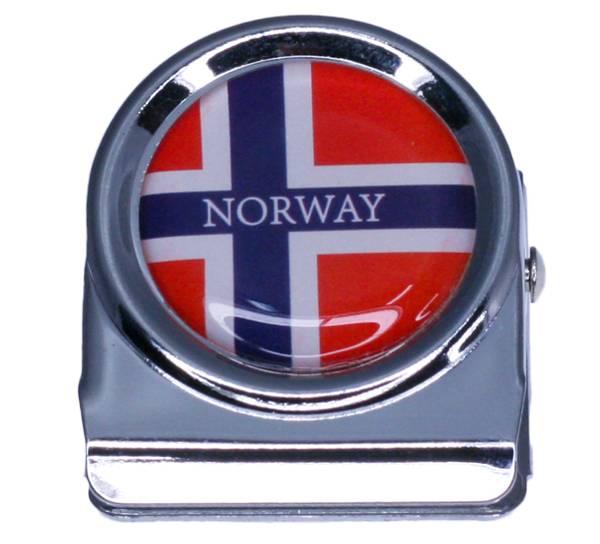 Bilde av Magnet, papir klype i metall, norsk flagg
