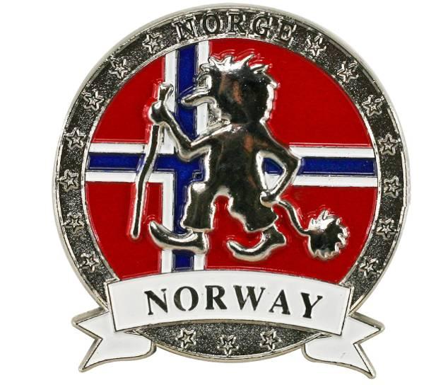 Bilde av Magnet i metall med sølv Troll of Norway