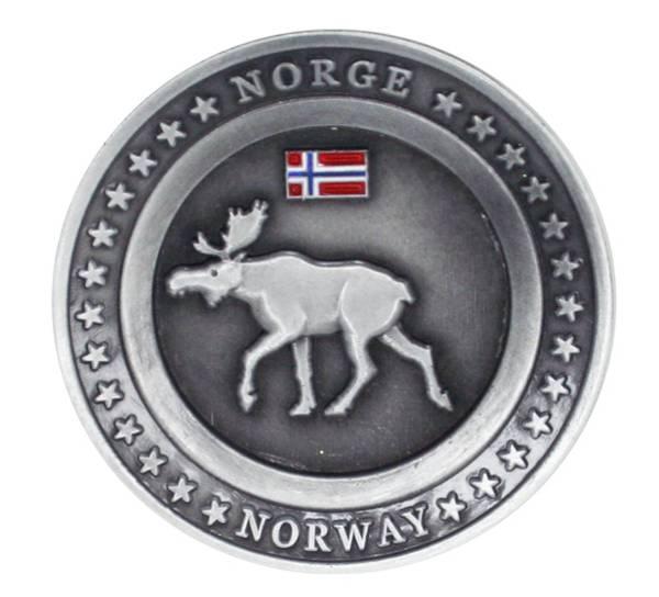 Bilde av Magnet, rund metallplate med sort elg