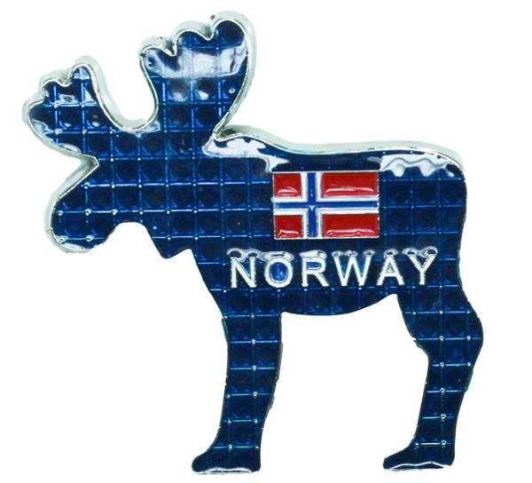 Bilde av Magnet, metall elg blå Norway