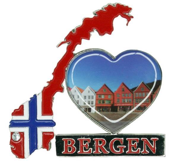 Bilde av Magnet, norgeskart Bergen