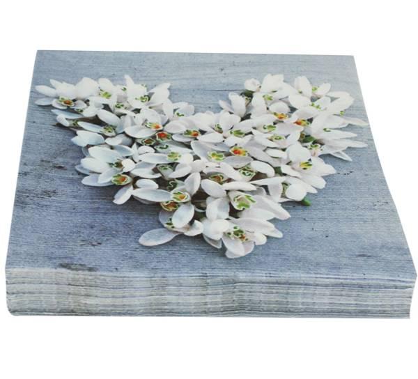 Bilde av Servietter, blomsterhjerte