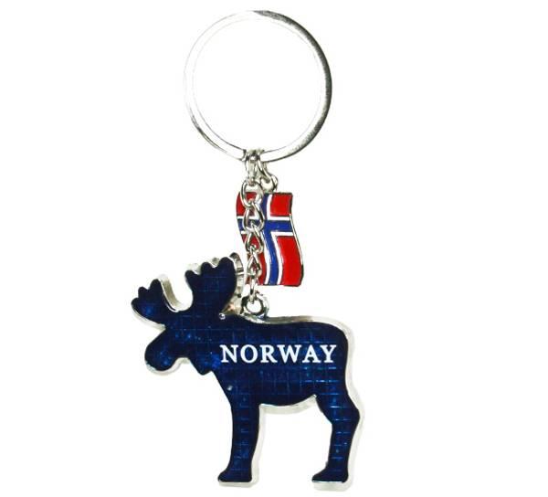 Bilde av Nøkkelring, blå elg Norway