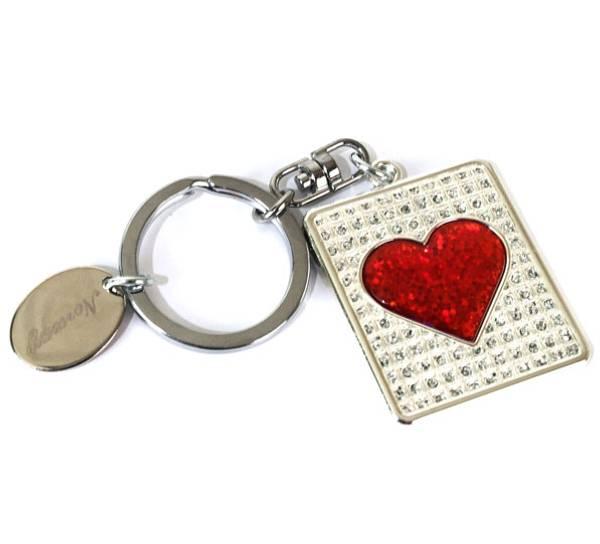 Bilde av Nøkkelring, firkant med hjerte