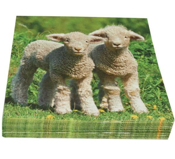 Bilde av Servietter med søte lam