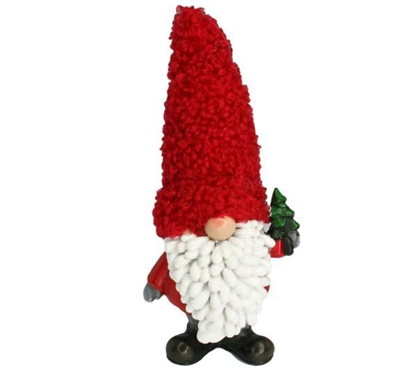 Bilde av Nisse med stort skjegg og rød lue