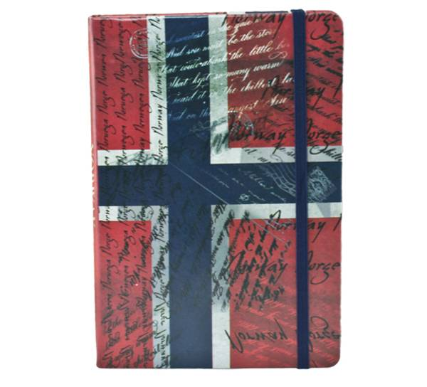 Bilde av Notatbok A5, Norgesflagg