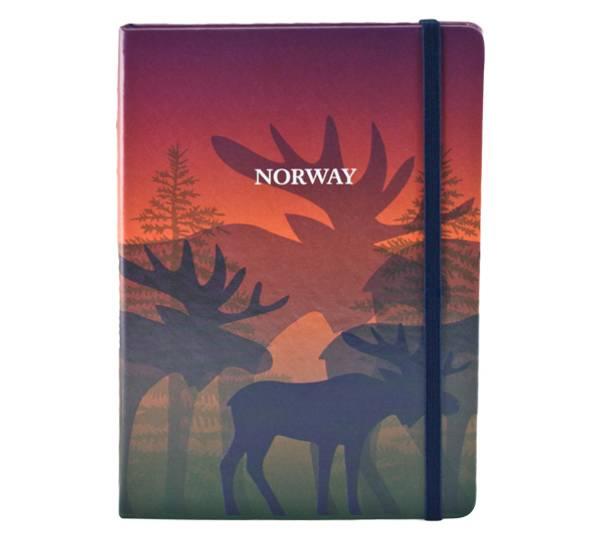 Bilde av Notatbok A5, Elg i skogen