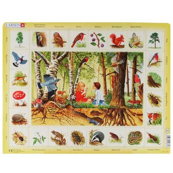 Bilde av Puslespill Norske dyr og planter, 48 brikker,