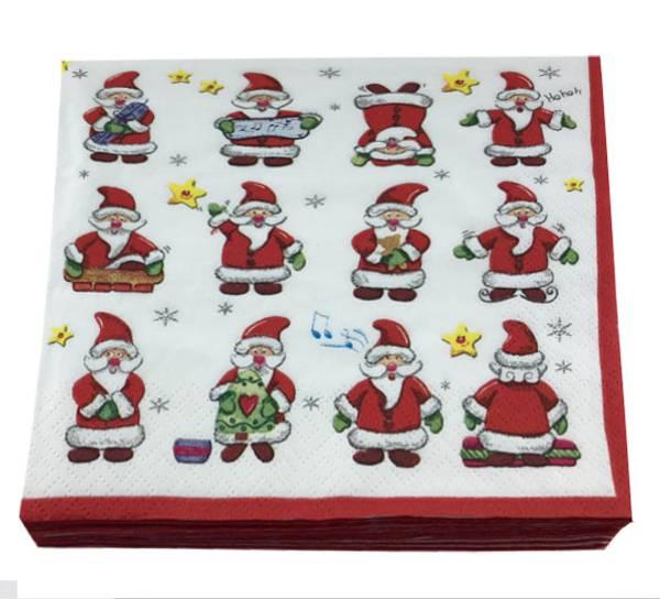 Bilde av Servietter, lekende julenisser