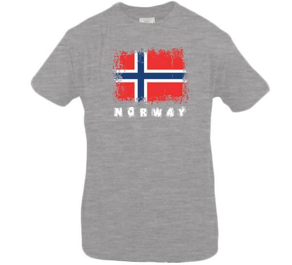 Bilde av T-skjorte. Norway, melert