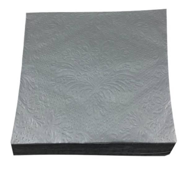 Bilde av Servietter, sølv ensfarget