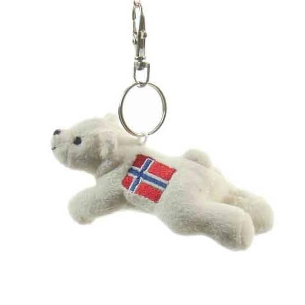 Bilde av Nøkkelring, isbjørn, med flagg, Norway