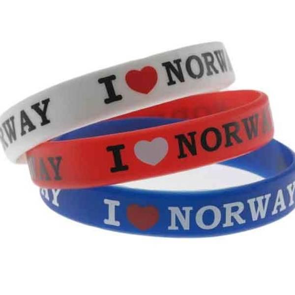 Bilde av Armbånd I love Norway *Sett à 3*
