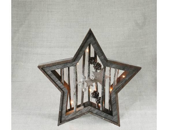 Bilde av Stjerne med kvist, liten, Ledlys