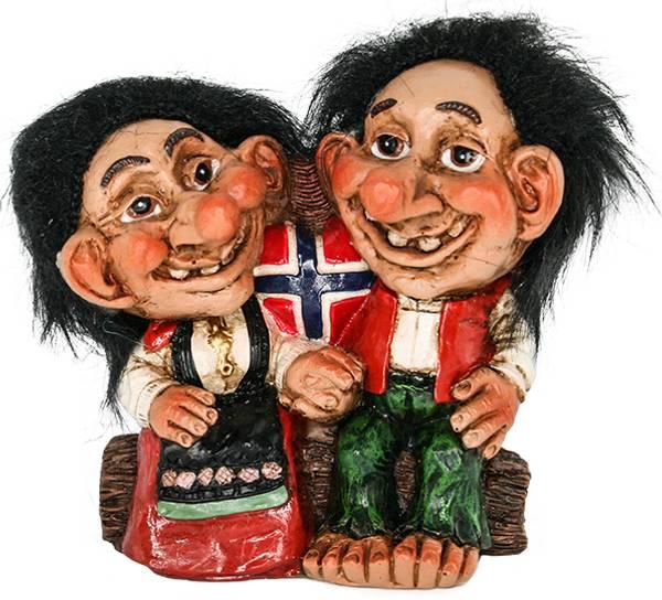 Bilde av Figur, Troll i nasjonaldrakt