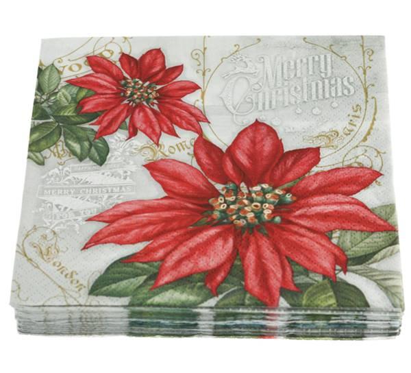 Bilde av Servietter,julestjerner tegnet