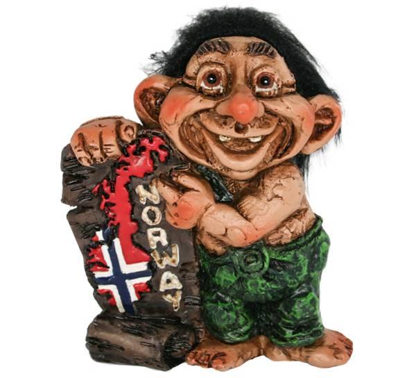 Bilde av Figur, Troll med norgeskart