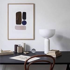 Bilde av New Works - Kizu hvit Marmor lampe