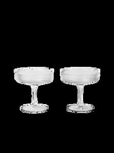Bilde av Ferm Living - Ripple Champagne Saucers (set of 2)