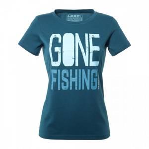 Bilde av LOOP WOMENS GONE FISHING T-SHIRT, DARK SLATE
