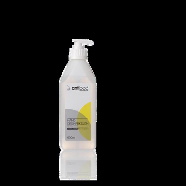 Antibac 85% hånddesinfeksjon 600 ml flytende pumpeflaske