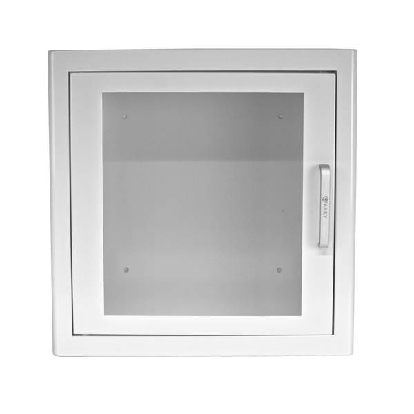 AED veggskap i hvitt stål m/alarm