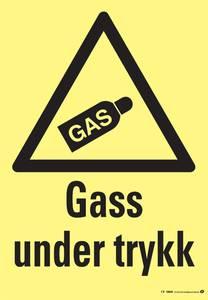 Bilde av Skilt gass under trykk 150x200 mm