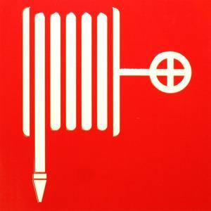 Bilde av Skilt symbol brannslange 200x200 mm