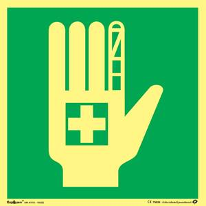 Bilde av Skilt symbol førstehjelputstyr 200x200 mm