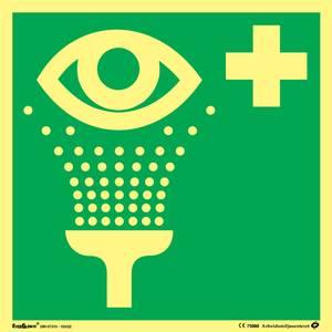 Bilde av Skilt symbol øyeskyll 200x200 mm